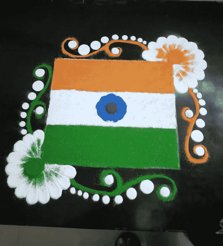 Appealing Indian Rangoli