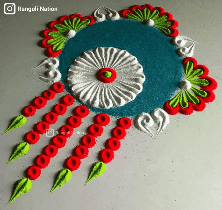 Admirable Indira Ekadashi Rangoli Design