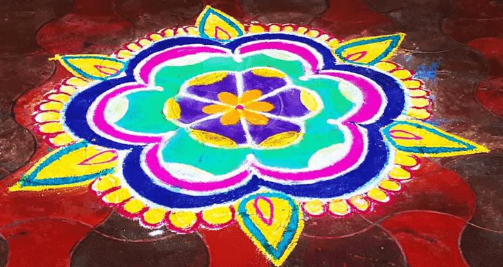 Appealing Jyeshtha Purnima Rangoli