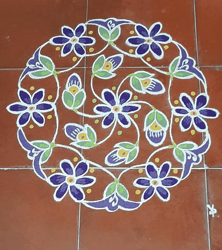 Captivating Jyeshtha Purnima Rangoli