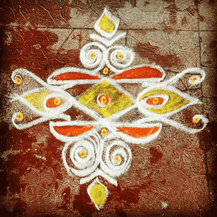 Bewitching Kali Chaudas Rangoli
