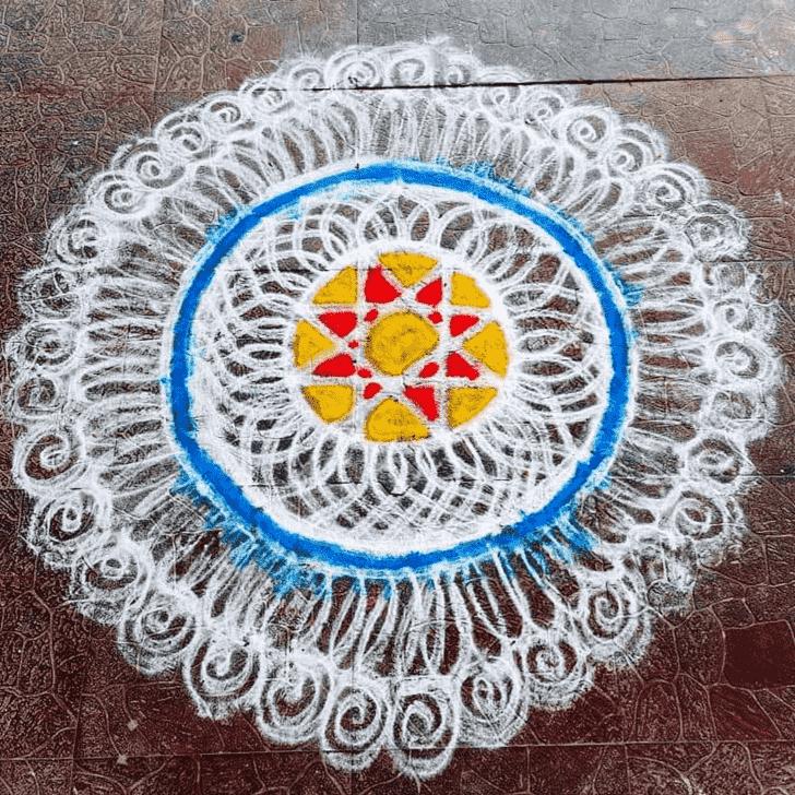Captivating Kali Chaudas Rangoli