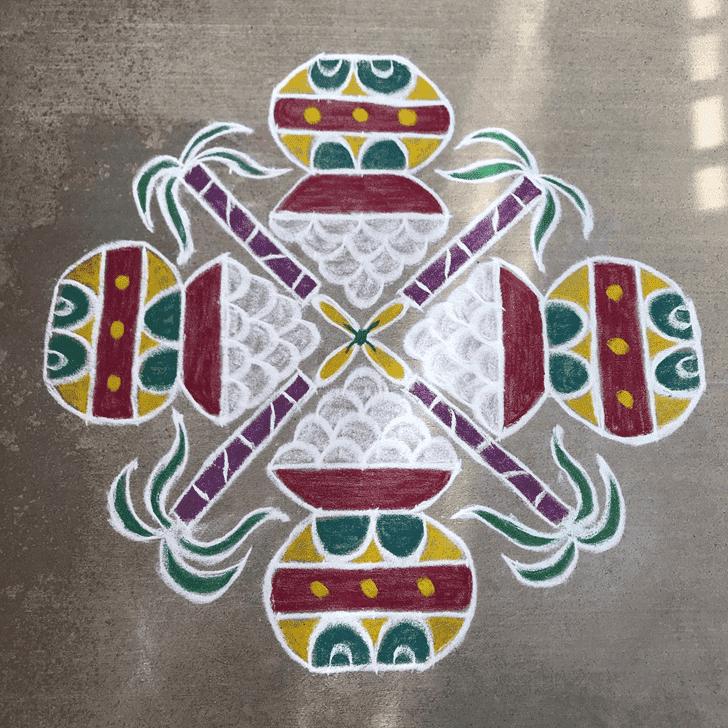 Admirable Kamada Ekadashi Rangoli Design