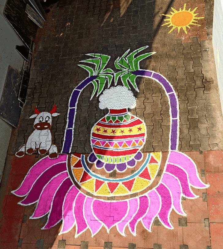 Alluring Kamada Ekadashi Rangoli