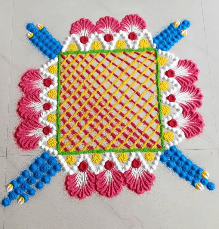 Charming Kamika Ekadashi Rangoli