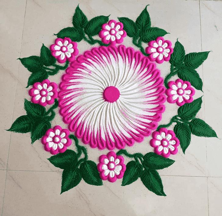 Delicate Kamika Ekadashi Rangoli