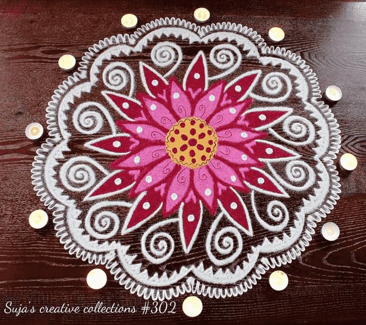 Lovely Kamika Ekadashi Rangoli Design
