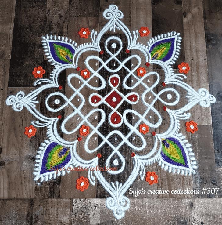 Wonderful Kamika Ekadashi Rangoli Design