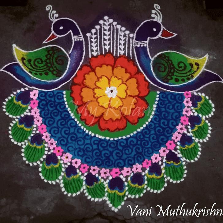 Admirable Kanya Sankranti Rangoli Design