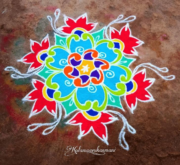 Appealing Kanya Sankranti Rangoli
