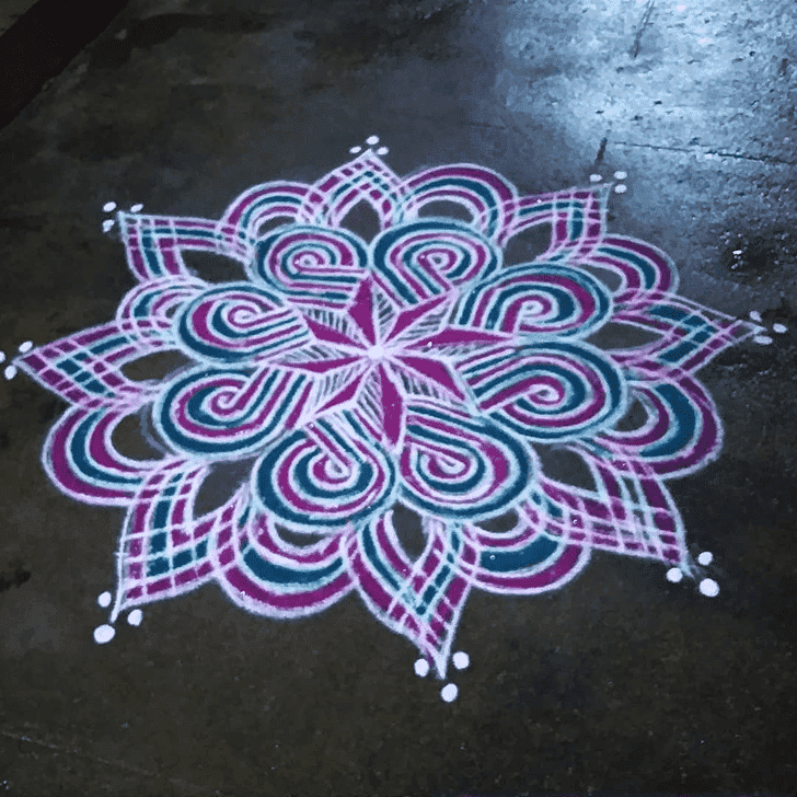 Captivating Kanya Sankranti Rangoli