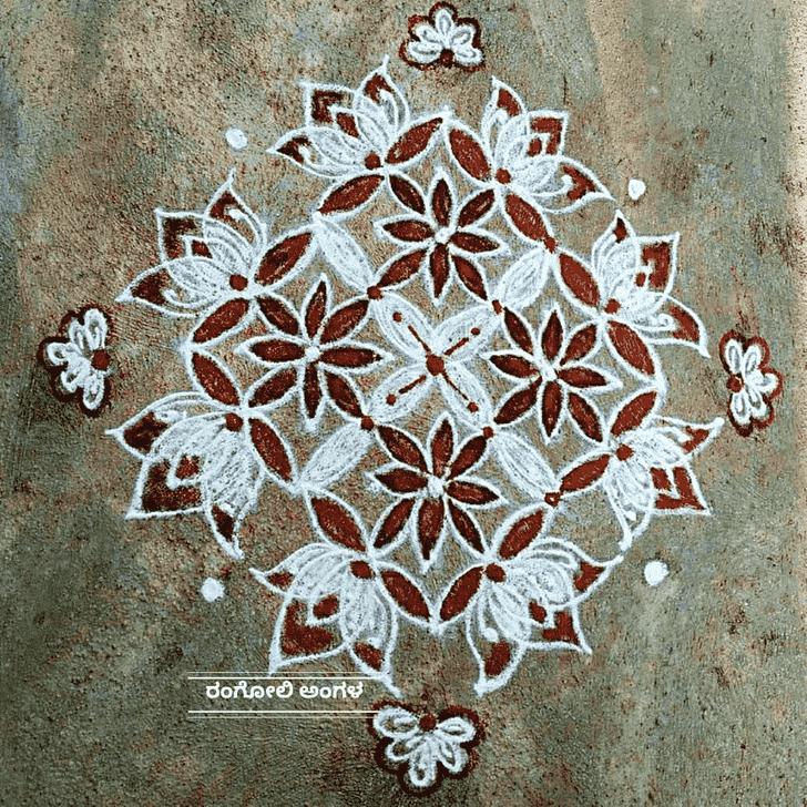 Captivating Karka Sankranti Rangoli