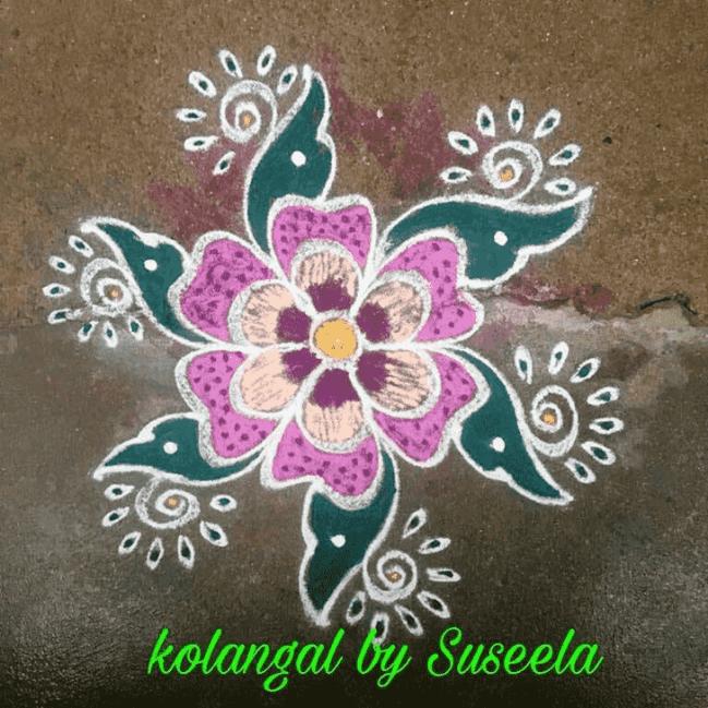 Appealing Kartik Purnima Rangoli