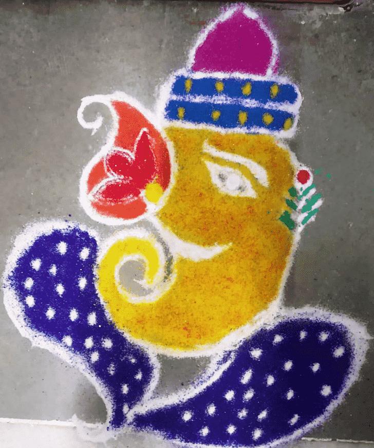 Alluring Lambodara Rangoli