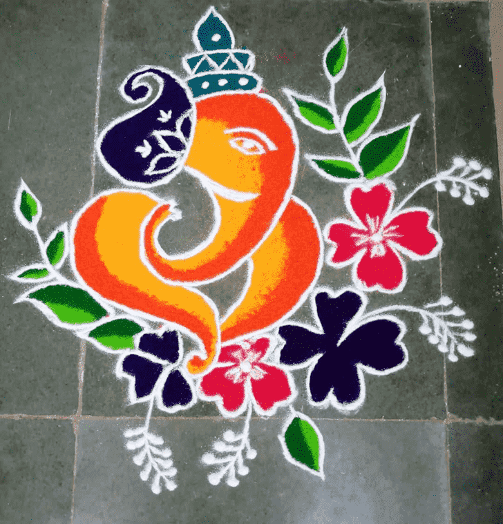 Appealing Lambodara Rangoli