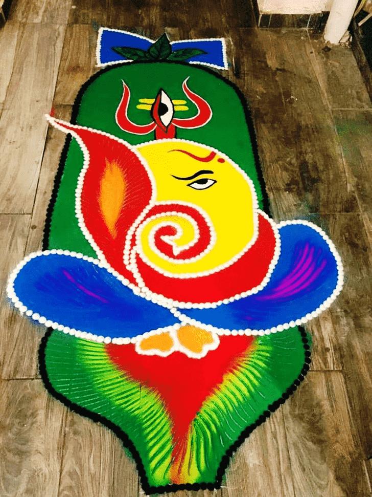Charming Lambodara Rangoli