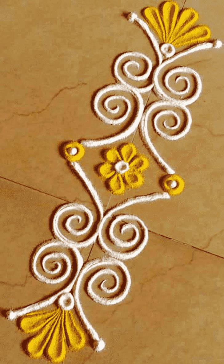Admirable Line Rangoli Design
