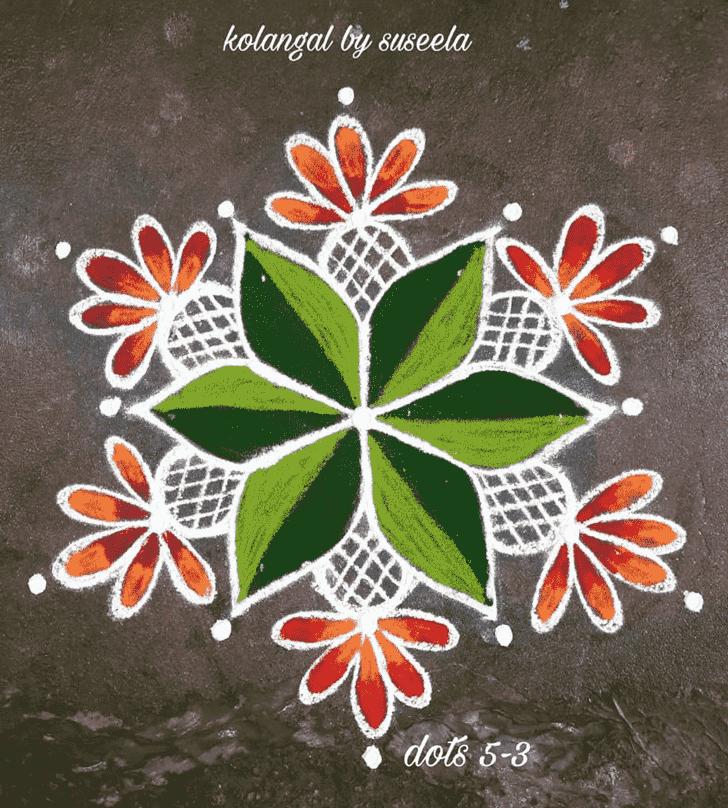 Captivating Magha Amavasya Rangoli