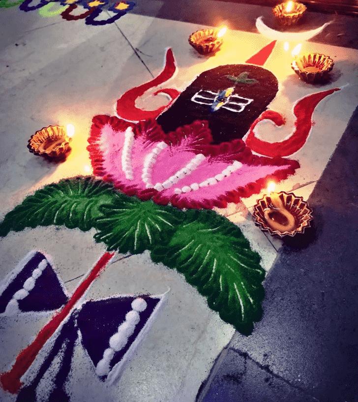Angelic Maha Shivaratri Rangoli