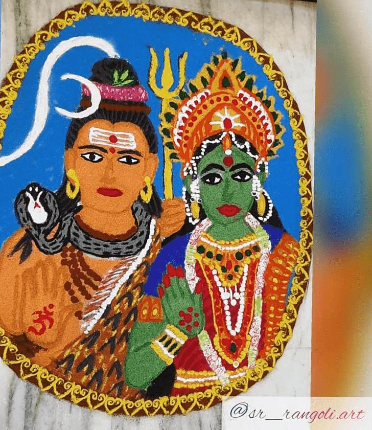 Appealing Maha Shivaratri Rangoli