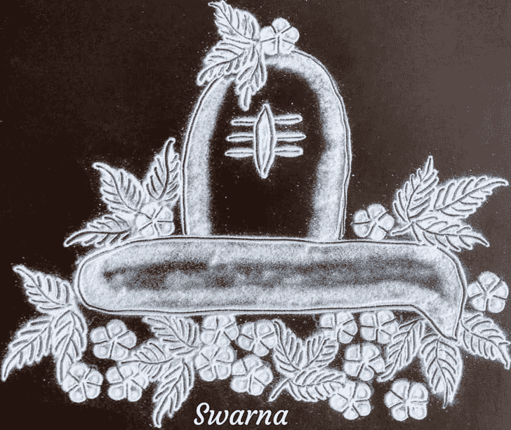 Charming Maha Shivaratri Rangoli