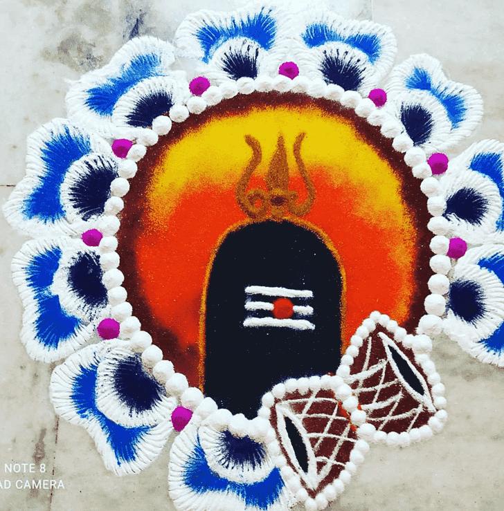 Classy Maha Shivaratri Rangoli