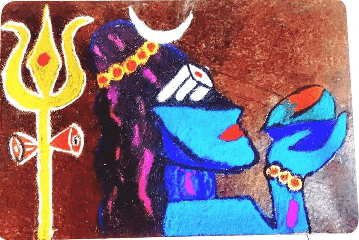 Comely Maha Shivaratri Rangoli