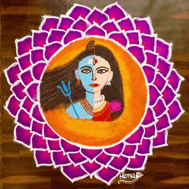 Elegant Maha Shivaratri Rangoli