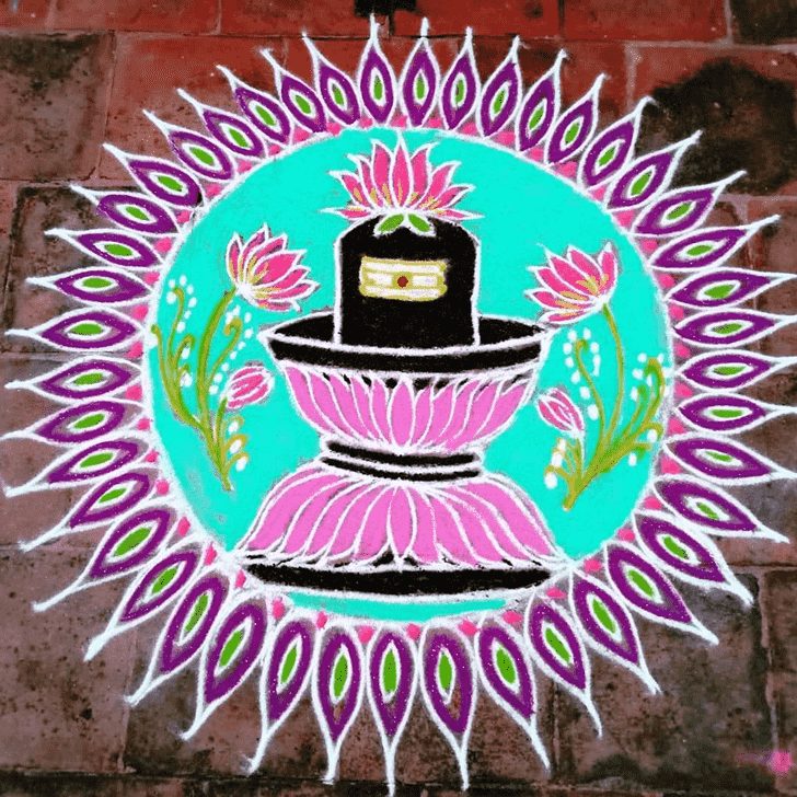 Fascinating Maha Shivaratri Rangoli