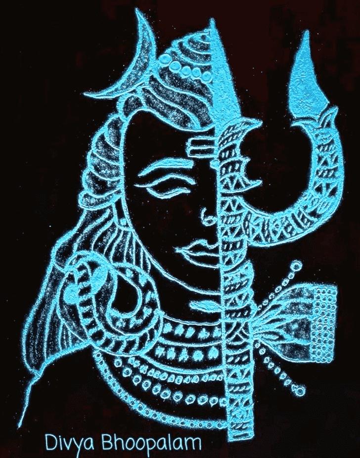 Graceful Maha Shivaratri Rangoli