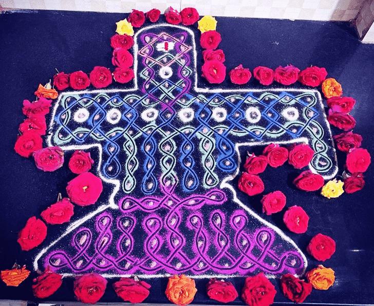 Inviting Maha Shivaratri Rangoli