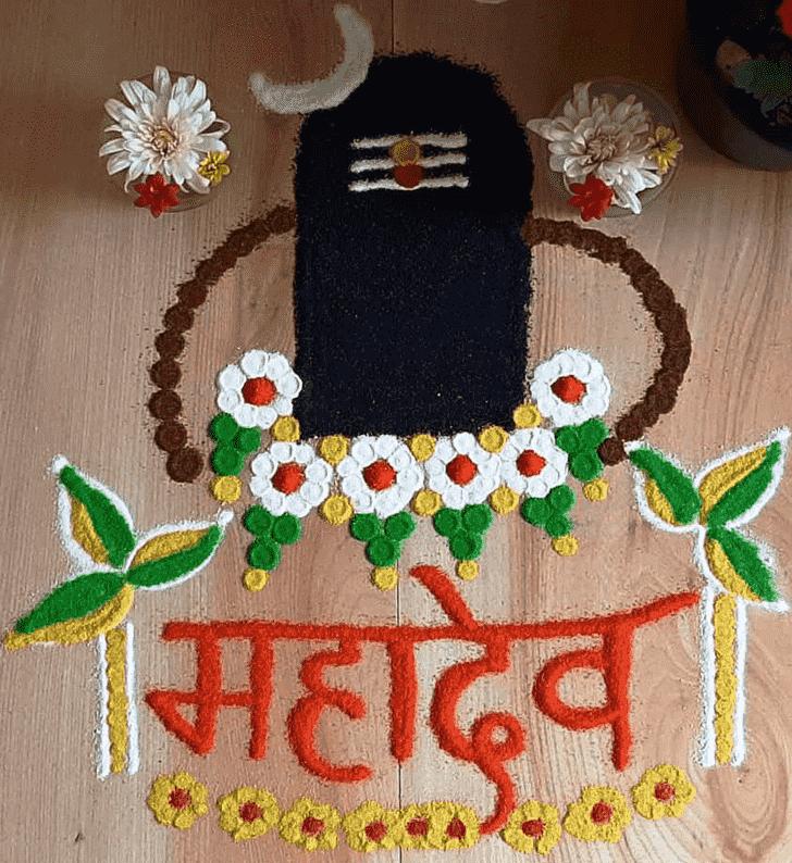Marvelous Maha Shivaratri Rangoli