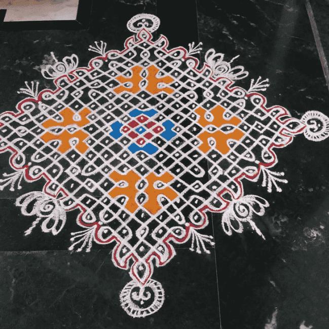 Beauteous Mahalaya Amavasya Rangoli