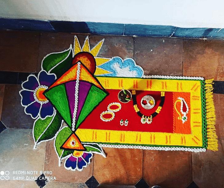 Beauteous Makar Sankranti Rangoli