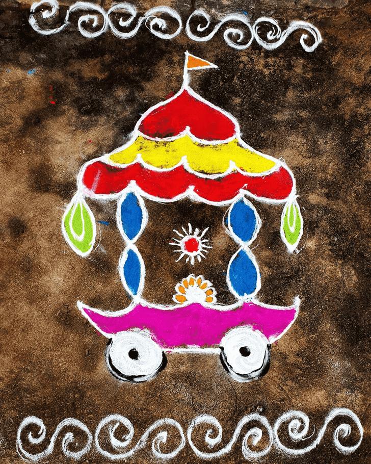 Admirable Mesha Sankranti Rangoli Design