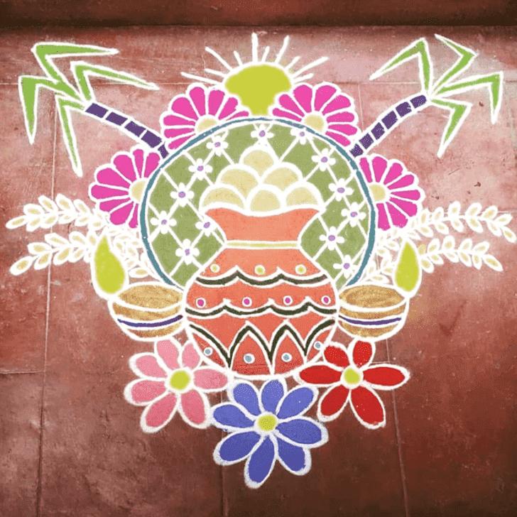 Alluring Mesha Sankranti Rangoli