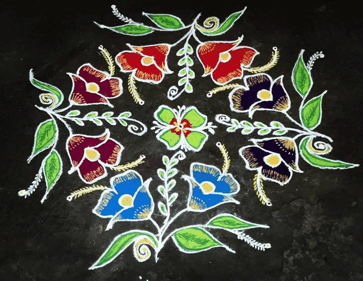 Captivating Mesha Sankranti Rangoli