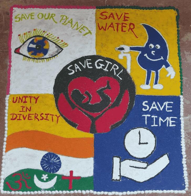 Captivating Message Rangoli