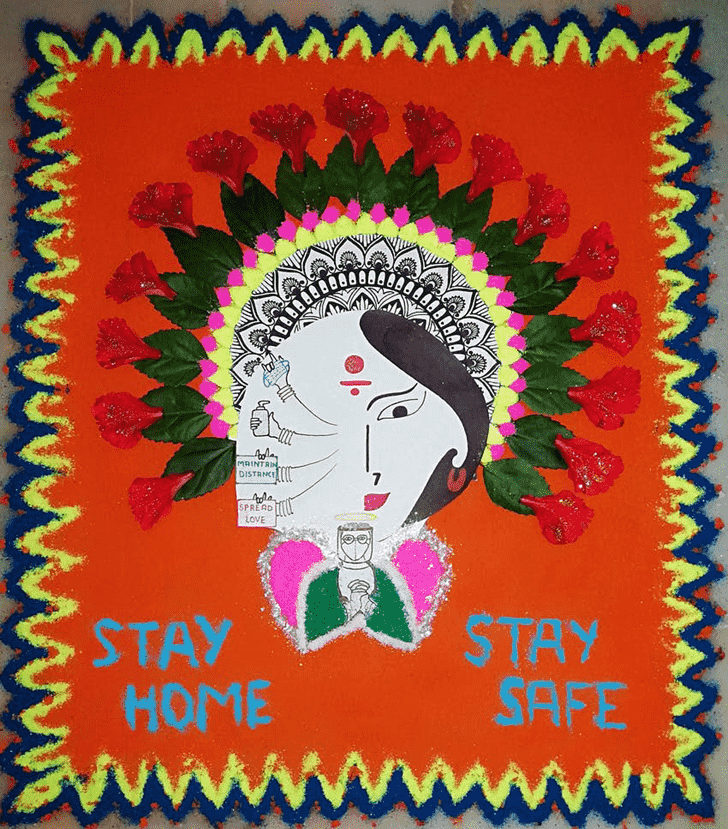 Magnetic Message Rangoli