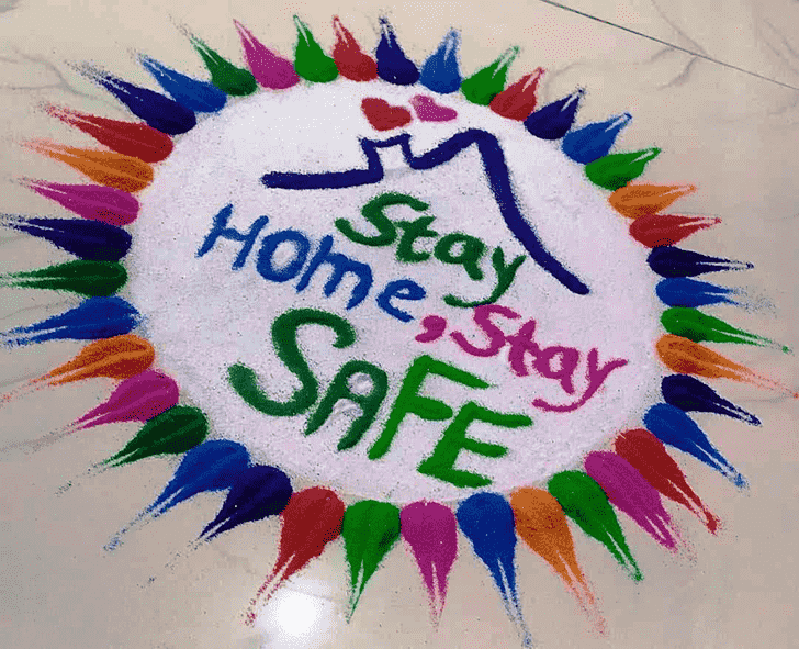 Pretty Message Rangoli