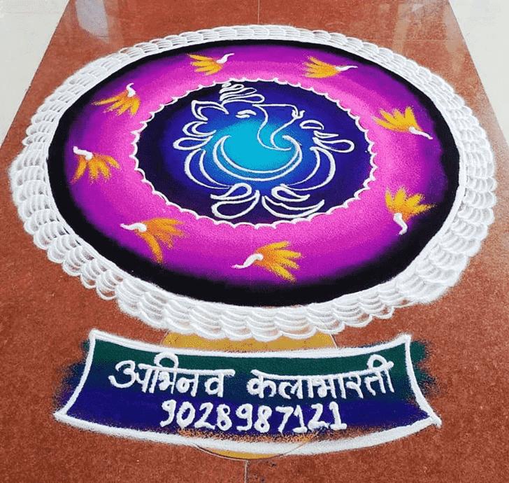 Splendid Message Rangoli
