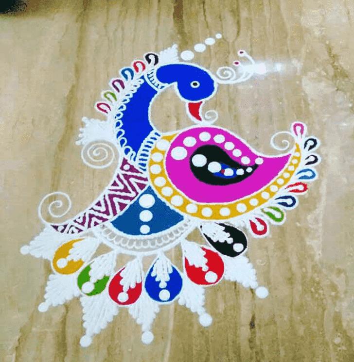 Amazing Mokshda Ekadashi Rangoli