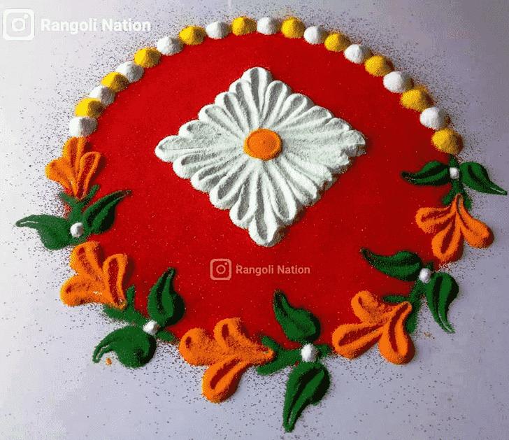 Dazzling Mokshda Ekadashi Rangoli