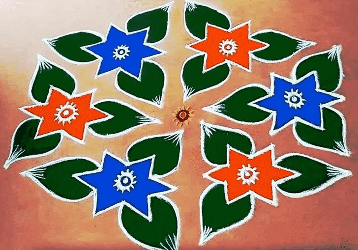 Grand Mokshda Ekadashi Rangoli
