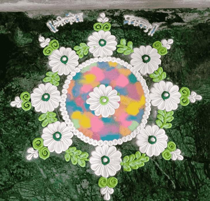 Lovely Mokshda Ekadashi Rangoli Design