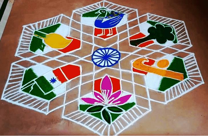 Radiant Mokshda Ekadashi Rangoli