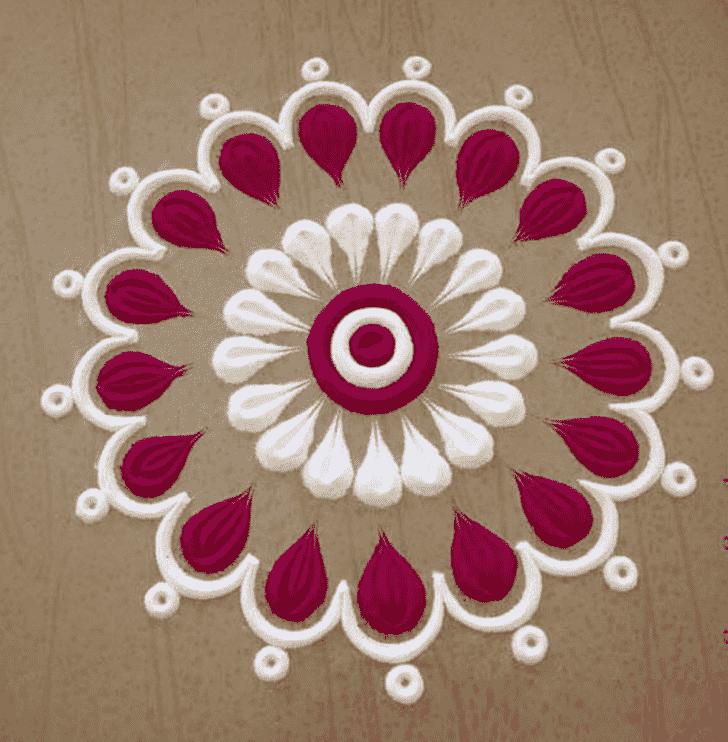 Wonderful Mokshda Ekadashi Rangoli Design