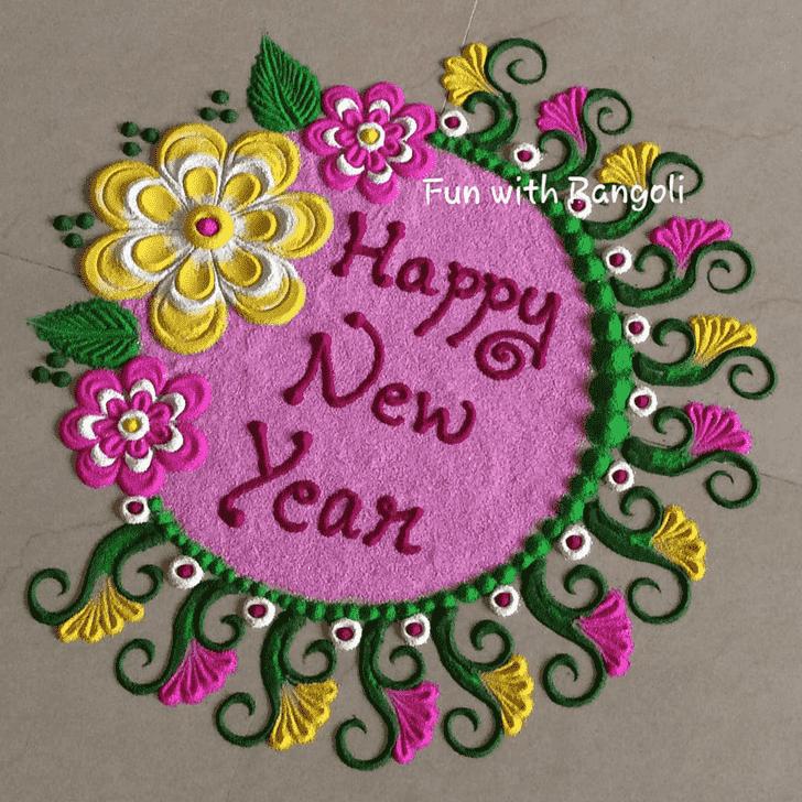 Beauteous New Year Rangoli