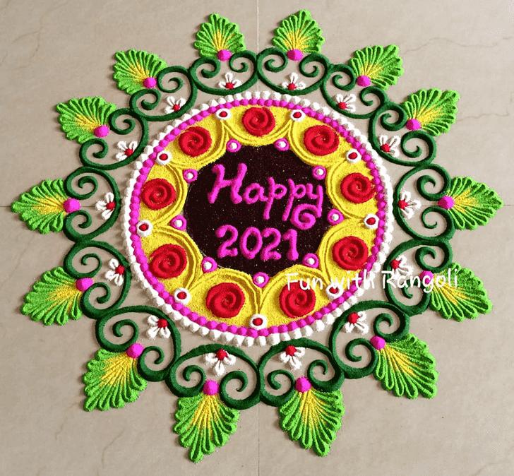 Captivating New Year Rangoli