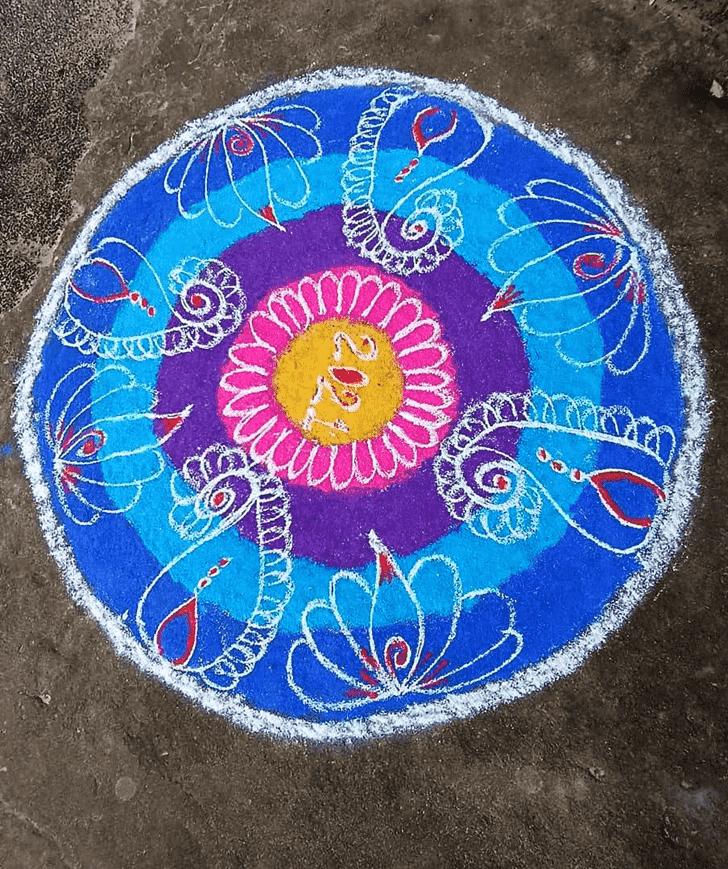Stunning Nirjala Ekadashi Rangoli